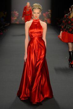 Lena Hoschek AW 2013 #Red #MBFWB