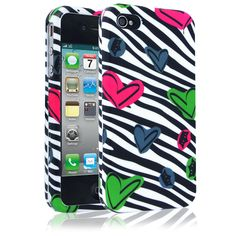 Cellairis Love Zebra Phone Cases for Apple iPhone 4 & 4S - $19.99 - #Hearts