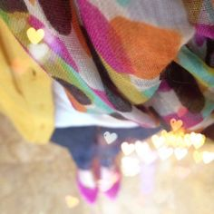 spun by subtle luxury scarf (confetti print)