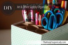 DIY Office & Art Supply Organizer