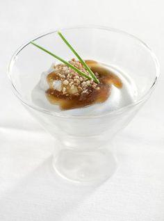 Copa de foie gras, Gorgonzola dulce y miel de manzana (Chef Javier Hernández)