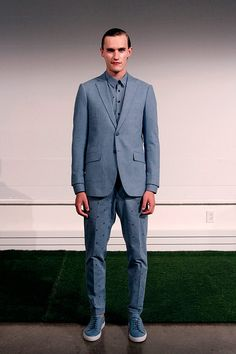 Carlos Campos coleccion primavera verano 2014 New York Fashion Week Gq, Suit Jacket, Breast, Suits, Formal, Jackets, Style, Fashion, Fields
