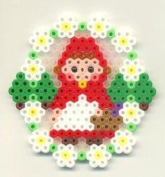Little Red Riding Hood Perler (Hama) Beads. Hama Beads Patterns, Beading Patterns, Art Perle, Motifs Perler, Peler Beads, Iron Beads, Melting Beads, Beaded Cross Stitch, Fuse Beads