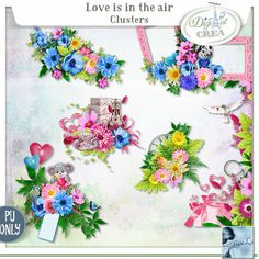 Love is in the air Clusters (PU) by Louise L