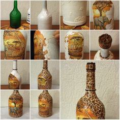 How to make decorative glass bottle step by step diy tutorial diy painted vase diy crafts craft ideas easy crafts diy ideas diy idea diy home diy vase easy diy for the home crafty decor home ideas diy decorations by solutioingenieria Images