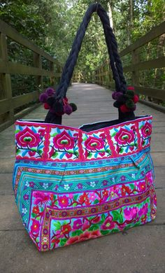 A personal favourite from my Etsy shop https://www.etsy.com/sg-en/listing/268872786/on-sale-boho-embroidery-hmong-ethnic