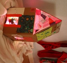 Rainbow-lighted Cardboard Dollhouse And Artterro Art Kit Giveaway