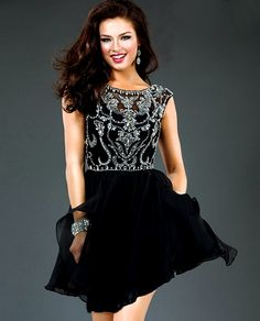 biggest trend for homecoming? cap sleeve bodices! get your Jovani 78147 dress at MackTak!