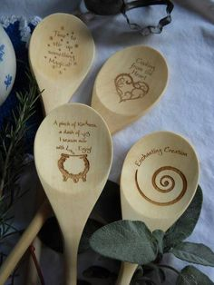 Kitchen Witch Wooden Spoons   Sorry I can't find source it's from Tumblr.  If I find it I'll link for sure :)