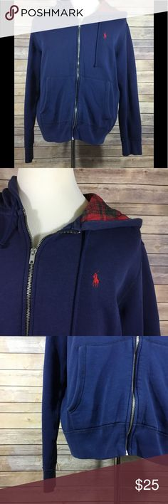 "Polo Ralph Lauren Men's Zip Hoodie Sweatshirt 73 Polo Ralph Lauren Men's Long Sleeve Full Zip Hoodie Sweatshirt. GUC without flaws. Size Large. 81% Cotton and 19% Polyester.  Length - 25"" Shoulders - 19.5"" Chest - 48"" Waist - 46"" Hips - 43"" Sleeve Length - 24.5"" Polo by Ralph Lauren Jackets & Coats Lightweight & Shirt Jackets"