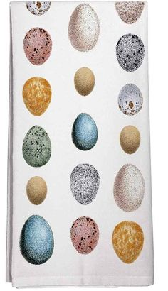 Watercolor Look Exotic Eggs 100% Cotton Flour Sack Dish Towel Tea Towel