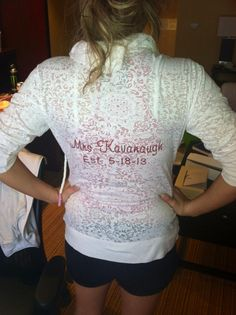 Morning after Wedding....Zip up from Personalizedbrides.com