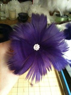 Feather Bouquets/Flowers Tutorial :  wedding bouquet diy feather bouquet flowers non floral white IMG 0536