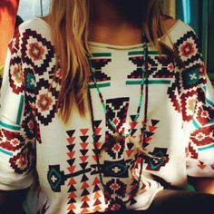 Tribal sweater- great for those chilly fall days