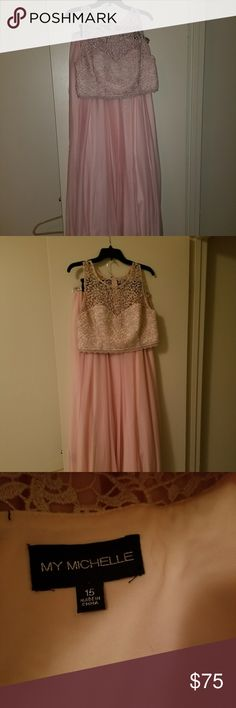 Prom dress Pink prom dress. Can be worn for any occasion. Only worn once. Price can be negotiated My Michelle Dresses Prom