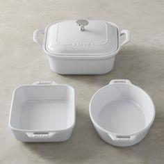 Staub Ceramics 4-Piece Set, White