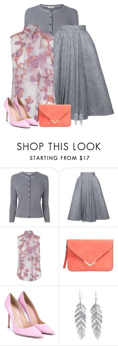 """""""grey"""" by divacrafts ❤ liked on Polyvore featuring L.K.Bennett, Dice Kayek, The 2nd Skin Co., Gianvito Rossi, Belk Silverworks and Original"""