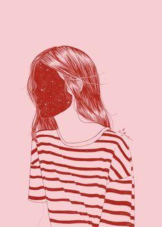 She was made of heaven - by Rocio Vigne #art #artist #elloart #ello #ellofashion #elloillustration #ellominimal #fashion #illustration