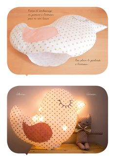 Diy {une lampe en tissu} - elsa Baby Couture, Handmade Decorations, Retro, Diy For Kids, Baby Love, Diy Clothes, Kids Toys, Projects To Try, Diy Crafts