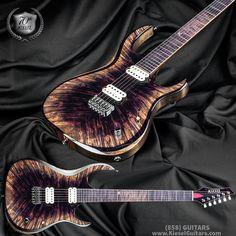 Kiesel Guitars Carvin Guitars in purple arctic Easy Guitar, Guitar Amp, Cool Guitar, Purple Guitar, Fender Guitars, Acoustic Guitars, Hammered Dulcimer, Cool Electric Guitars, Kiesel