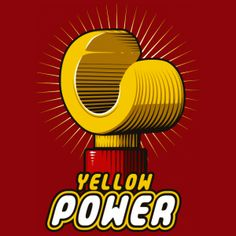 Yellow Power by Theduc - Get Free Worldwide Shipping! This neat design is available on comfy T-shirt (including oversized shirts up to ladies fit and kids shirts), sweatshirts, hoodies, phone cases, and more. Beau Film, Lego Therapy, Lego Club, All Lego, Lego Worlds, Cool Lego Creations, Lego Instructions, Legoland, Lego Brick