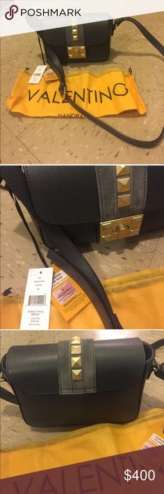 Authentic Valentino yasmine crossbody, new With tag and dust bag from saks. Lost receipt 😣, grey/mouse color Valentino Bags Crossbody Bags