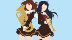 Kumiko and Reina from Hibike! Euphonium by matsumayu on DeviantArt