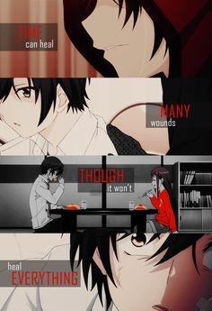 Time can heal many wounds though it won't heal everything - Anime Quote