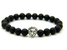 Beautiful Black and Silver Lion Bracelet from My Exclusive Gems