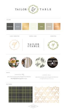 Logo + Brand Design for Tailor & Table :: Event Design Studio - Saffron Avenue | Graphic Design + Brand Styling