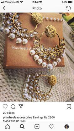 Pakistani Jewelry, Bollywood Jewelry, Indian Wedding Jewelry, Ear Jewelry, India Jewelry, Jewelery, Indian Earrings, Stylish Jewelry, Fashion Earrings