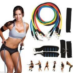 Every fit girls needs a resistance band or two … or three! These premium quality resistance bands are colorful and each one comes with a set of super-grip handles and ankle wraps, which allow you to u