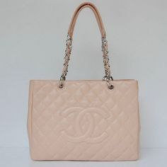 Chanel Quilted Tote Ball Grain Leather Bag Pink 20995-234