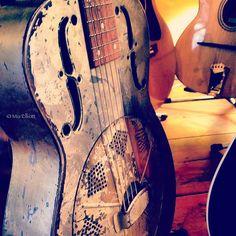 Vintage guitar by MiaElliott, via Flickr.