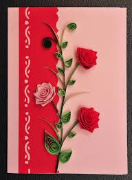 Quilling Valentine Card Paper Handmade Greeting Card  Peter Quill