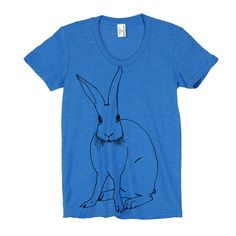Bunny Tee Womens Blue / by Maggie Kleinpeter