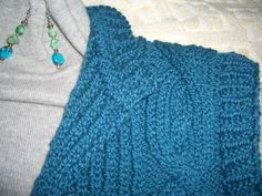 Lion Brand organic wool in a free pattern vest, also from LBY