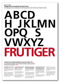 Poster Tipografía Frutiger