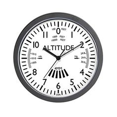 CafePress  Aviation Altimeter Wall Clock White  Unique Decorative 10 Wall Clock >>> Click image for more details.