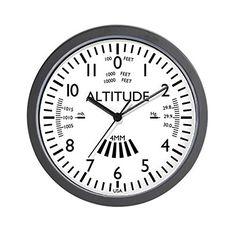CafePress  Aviation Altimeter Wall Clock White  Unique Decorative 10 Wall Clock >>> Click image for more details.
