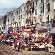 Portobello market, London. Read all about our favourite markets right here: http://londonliving.at/londons-top-5-markets/