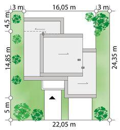 Projekt domu Kaskada N 159.41 m² - Domowe Klimaty Modern House Plans, Home Design Plans, Civil Engineering, Art Techniques, Metal Art, Villa, Floor Plans, House Design, Flooring