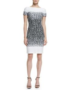 Love the St. John Collection Papillons Ombre Knit Sheath Dress on Wantering.
