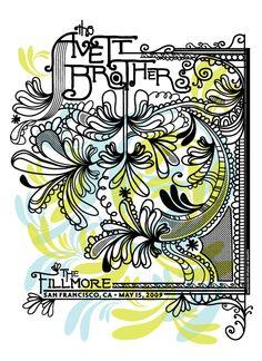 Avett Brothers Concert Print 05/15/09 - San Francisco, CA