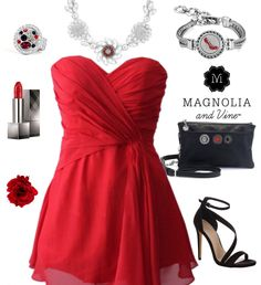 Lady in Red: Here are some possible Magnolia and Vine jewelry and accessories that you can match up with a red dress for prom or for another special occasion. Contact me at www.mymagnoliaandvine.com/335 to order.