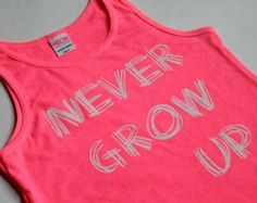 Check out our neon pink tank top selection for the very best in unique or custom, handmade pieces from our tanks shops. Never Grow Up, Neon, Tank Tops, My Style, Pink, Shopping, Women, Fashion, Moda