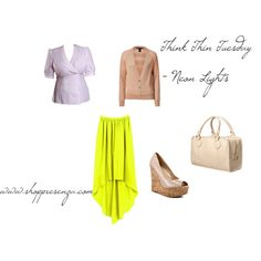 Neon Lights, created by shoppresenza  Incorporate neon colors into your outfits this spring!    $98