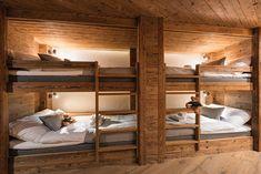VOLPINA Luxury Ski Chalet, Chalet Mckinley, Zermatt, Switzerland, Switzerland (photo How Ozon Chalet Design, Chalet Style, Cabin Bunk Beds, Bunk Beds Built In, Chalet Interior, Ski Chalet Decor, Bunk Rooms, Bunk Bed Designs, Cabin Interiors