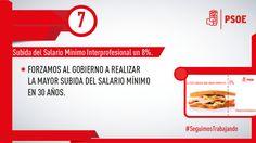 #SeguimosTrabajando para mejorar la situación del empleo en nuestro país, por ello, conseguimos la mayor subida del SMI en 30 años. #PSOE