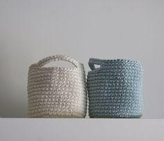 Set of  2 Storage Basket in Light turquoise and by maricatimonsina, €18.00